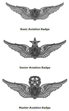Aviation badges for Air force decoration points