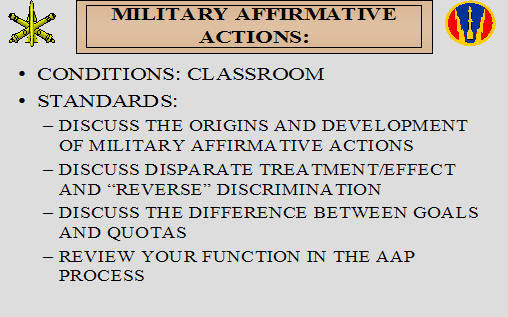 Affirmative Action Plan (ArmyStudyGuide.com)