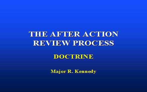 The after action review process armystudyguide click here to download the presentation maxwellsz