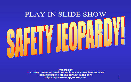 safety jeopardy  armystudyguide com